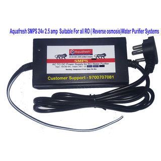 Aquafresh SMPS DC Power Supply 24v x 2.5amp for RO Water Purifier Suitable for all Brand RO Purifier Systems in India