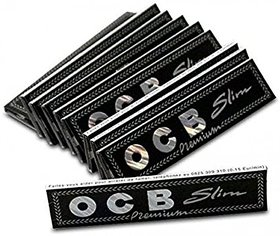 SCORIA OCB King Size Rolling Paper (Pack Of - 25) 800 Leaves - Black