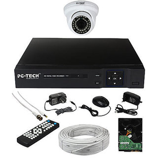 4 CH DVR 1 AHD DOME CAMERA 1MP 1 TB HDD 3+1 CCTV WIRE BUNDEL 1 CH POWER SUPPLY MOUSE REMOTE BNC DC. COMPLETE FULL COMBO