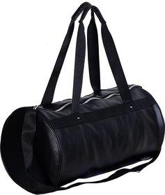 DE Vintage Black Leather Rite Gym Bag  (Black, Kit Bag)