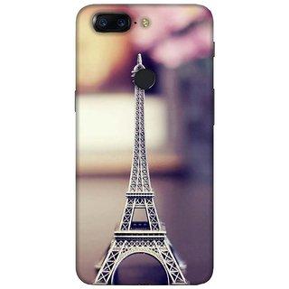 For OnePlus 5T polka pattern ( polka pattern, zigzag pattern, pattern, orange background ) Printed Designer Back Case Cover