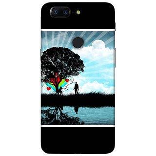 For OnePlus 5T galat kaam karte nai kisi ke baap se darte nai ( galat kaam karte nai kisi ke baap se darte nai, good quotes, cartoon, boy, pattern ) Printed Designer Back Case Cover