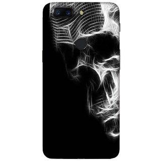 For OnePlus 5T dangerous girl ( dangerous girl, girl, running girl, man, blue background ) Printed Designer Back Case Cover