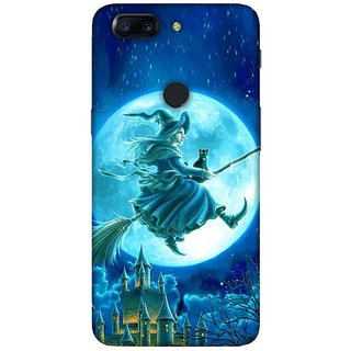 For OnePlus 5T roar wolf ( roar wolf, wolf, moon, fullmoon ) Printed Designer Back Case Cover