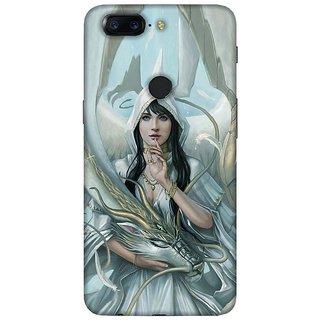 For OnePlus 5T beautiful girl ( beautiful girl, girl, cute girl, flower ) Printed Designer Back Case Cover