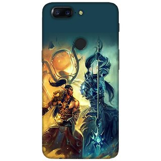 For OnePlus 5T beautiful face ( beautiful face, face, dangerous face, mask ) Printed Designer Back Case Cover