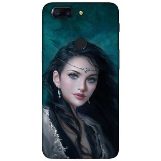 For OnePlus 5T painting girl ( painting girl, girl, cute girl, beautiful girl, painting ) Printed Designer Back Case Cover