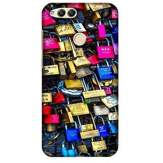 For Huawei Honor 7X polka ( polka, black polka, love pattern, pattern ) Printed Designer Back Case Cover