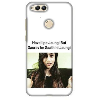 For Huawei Honor 7X a journey of a thousand miles begins with single step ( a journey of a thousand miles begins with single step, good quotes, blue background ) Printed Designer Back Case Cover