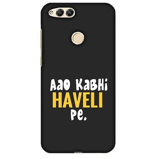 For Huawei Honor 7X cartoon girl ( girl, cartoon girl, happy birthday, good quotes, blue background ) Printed Designer Back Case Cover