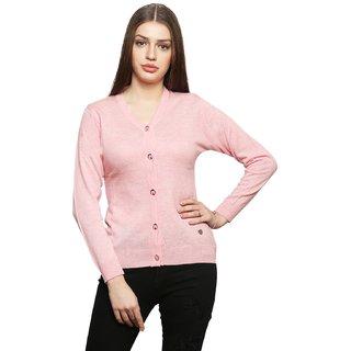 Leebonee Women's Blended Wool Full Sleeve Cardigan