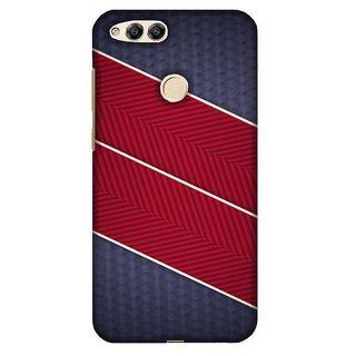 For Huawei Honor 7X black polka heart ( black polka heart, polka, heart, check pattern background ) Printed Designer Back Case Cover