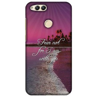 For Huawei Honor 7X tell me what will you do today with your one wild and precius life? ( tell me what will you do today with your one wild and precius life?, good quotes, brown background ) Printed Designer Back Case Cover