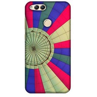 For Huawei Honor 7X illustrator flower ( illustrator flower, pattern, green background ) Printed Designer Back Case Cover