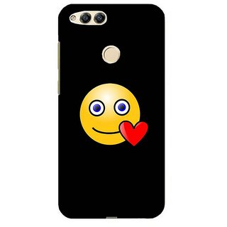 For Huawei Honor 7X two face ( two face, double face, black face, whtie face ) Printed Designer Back Case Cover