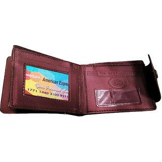 Men Stylish Unique Wallet (Brown)