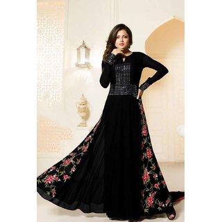 Salwar Soul Women  Girls Disigner Party Wear Black salwar Suit With Mirror Work