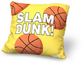 Baby Oodles Yellow & Orange Basket Ball Print Cushion