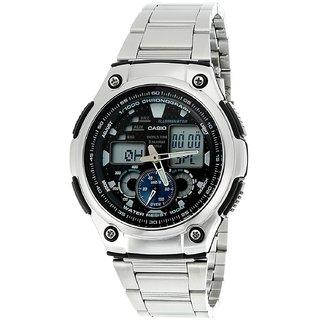 Casio Youth Analog-Digital Black Dial Mens Watch - AQ-190WD-1AVDF (AD160)