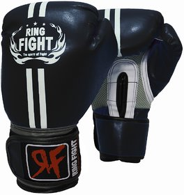 Ring Fight Pro Boxing gloves(Black) (10 oz)
