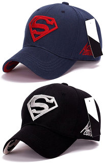 Superman Baseball  Sports Cap by Visach (Pack of 2)