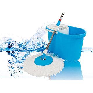 Easy Mop Shopper Plastic Double Bucket Mop 52 Magic Mop 360 Spin Easy Wash Mop (5 lt.)