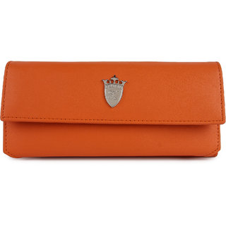 Styler king Orange Plain Clutch