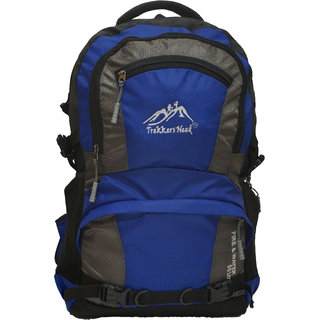 TREKKERS NEED FIRE  WATER 50LTR BLUE BACKPACK LAPTOP BAG