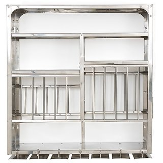 Medium Stainless Steel Plate Rack Heavy Gauge Wall Mounted 30x30 Rbj  sc 1 st  Shopclues & Buy Medium Stainless Steel Plate Rack Heavy Gauge Wall Mounted 30x30 ...