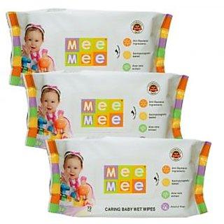Mee Mee Baby Wet Wipes (Pack of 3)