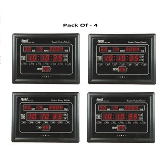 AJANTA OLC 103 Digital Clock Pack Of - 4
