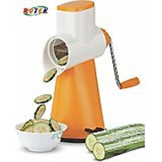 Rewa Multi-Functional 4 in 1 Vegetable Fruit Cutter Slicer Cheese Shredder Speedy Rotary Drum Grater Slicer - Blue