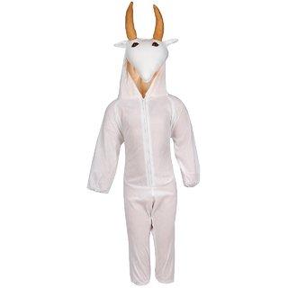 Raj Costume Polyester Cow Fancy Dress For Kids