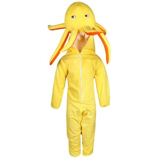 Raj Costume Polyester Octopus Yellow Color Fancy Dress For Kids