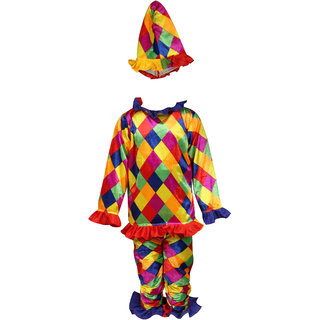 Raj Costume Polyester Joker Artist Costume For Kids