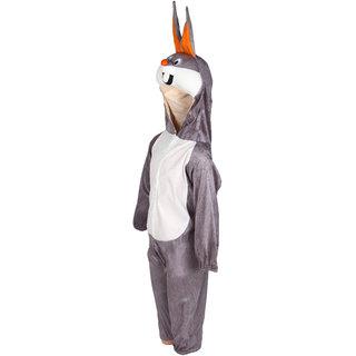 Raj Costume Polyester Grey Rabbit Animal Costume For Kids