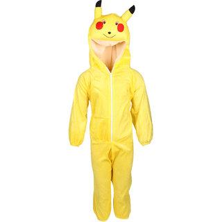 Raj Costume Polyester Pikachu Cartoon Costume For Kids