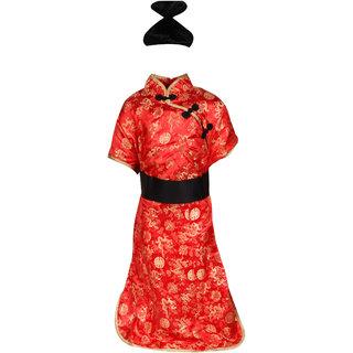 Raj Costume Polyester Chinese Girl Fancy Dress For Kids