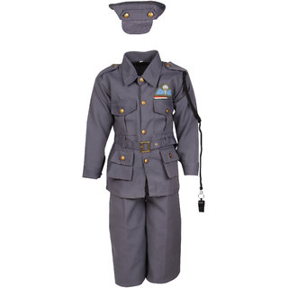 Raj Costume Polyester Indian Air Force National Hero Costume For Kids