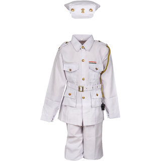 Raj Costume Polyester Indian Navy National Hero Costume For Kids