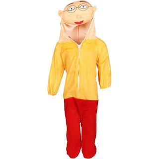 Raj Costume Polyester Patlu Cartoon Costume For Kids