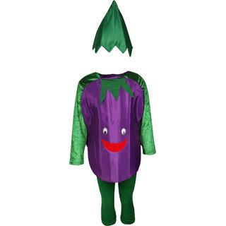 Raj Costume Polyester Brinjal Vegetable Costume For Kids