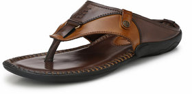 Alberto Torresi Brokipat Dark Brown,Tan Slipper For Men
