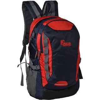 F Gear Fortune 27 Liters Laptop Backpack (Navy Blue, Red) Bag