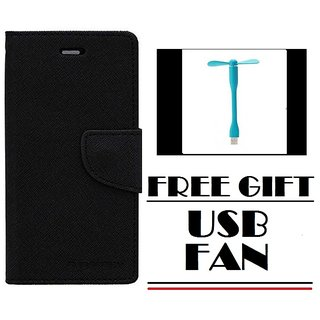 Redmi Note 4 Flip Cover Mercury Case With Free USB Fan  By Vinnx