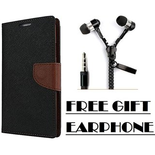One Plus 3T Flip Cover Mercury Case With Free Earphone By Vinnx