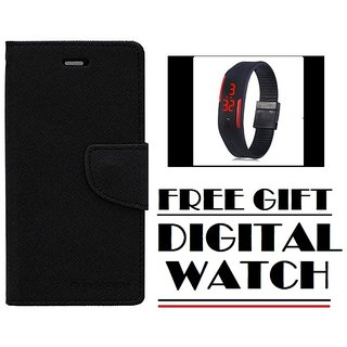 Redmi Note 4 Flip Cover Mercury Case With Free Digital Watch  By Vinnx
