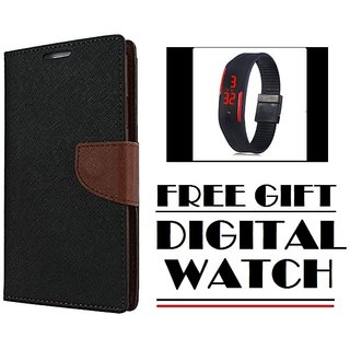 Vinnx Flip Cover For Redmi Note 4 Mercury Case  With Free Digital Watch