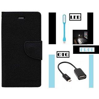 One Plus 3T Flip Cover Mercury Case With Free LED Light & OTG  By Vinnx