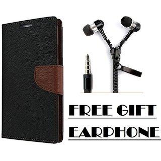 Vivo Y55 Flip Cover Mercury Case With Free Earphone By Vinnx